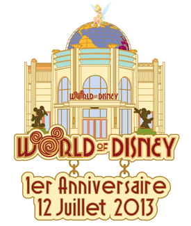 Limited Edition 600 Pin Commemorating the First Anniversary of the World of Disney Store at Disneyland Paris