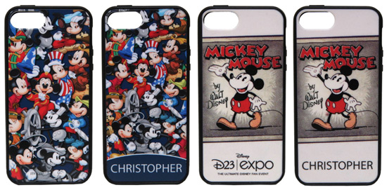 iPhone 4/4S/5 Cases Themed to Mickey Through the Years and the Personalized Option