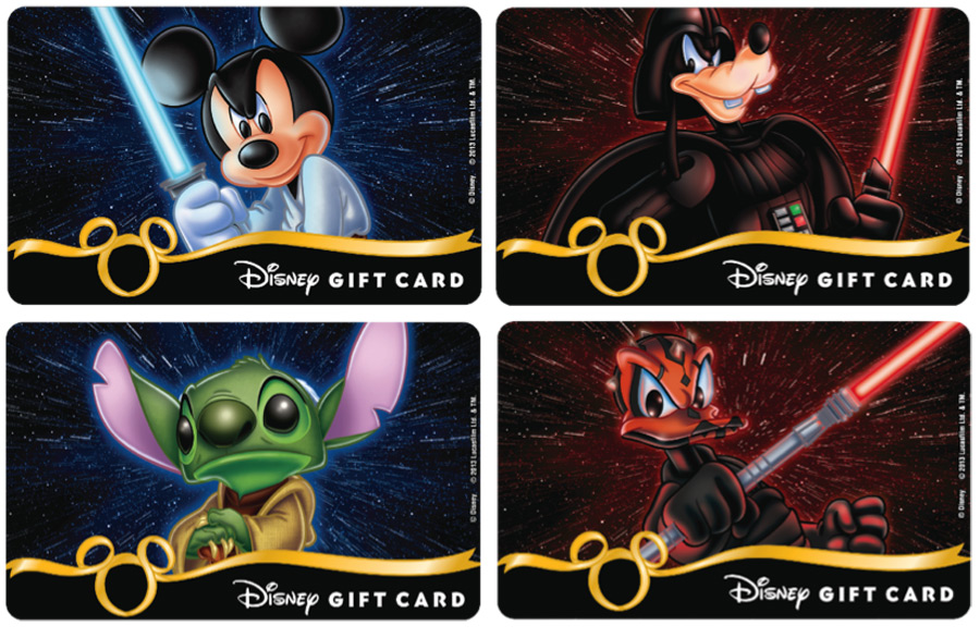 New Disney Gift Cards Fly In This Summer Planes Star Wars Princess