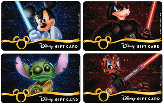 Disney Gift Card New Star Wars Design