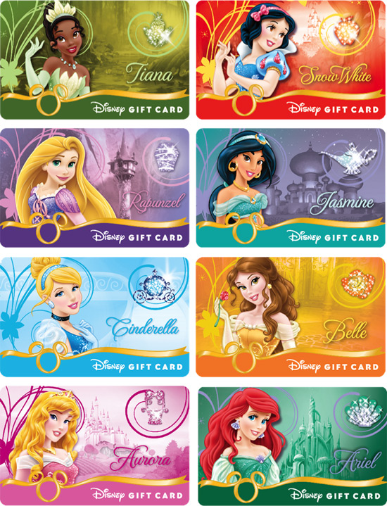Disney Gift Card Royal Debut Series
