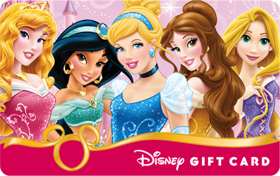 Disney Gift Card New Princess Design