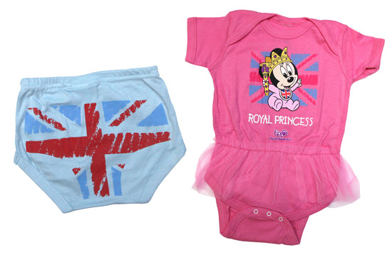 Stylized Undergarments for Boys and Pink Tutu Onesie for Girls at Epcot