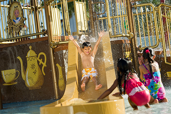'Alice In Wonderland' Water Play Area at Disney's Grand Floridian Resort & Spa