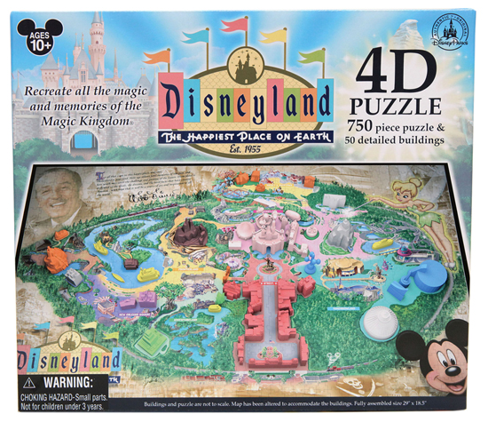Fun in Four-Dimensions Coming to the D23 Expo Dream Store and Disney Parks in August 2013, Including this 4-D Puzzle Map