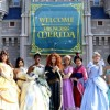 The Disney Princess royal court came out to celebrate Merida as she became the newest Disney Princess.