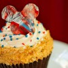 "A special ""Limited Time Magic"" cupcake was available at Disney's Hollywood Studios during Independence Week."