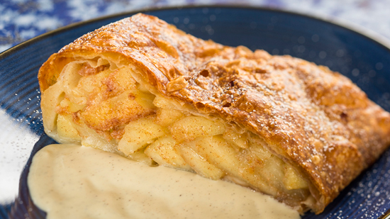 Bright New Tastes at Germany Pavilion Biergarten Restaurant, Sommerfest at Epcot, Including Apple Strudel