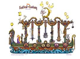 'Disney Festival of Fantasy Parade' Floats