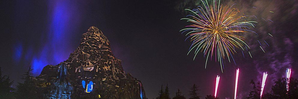 Fireworks at the Matterhorn at Disneyland Resort