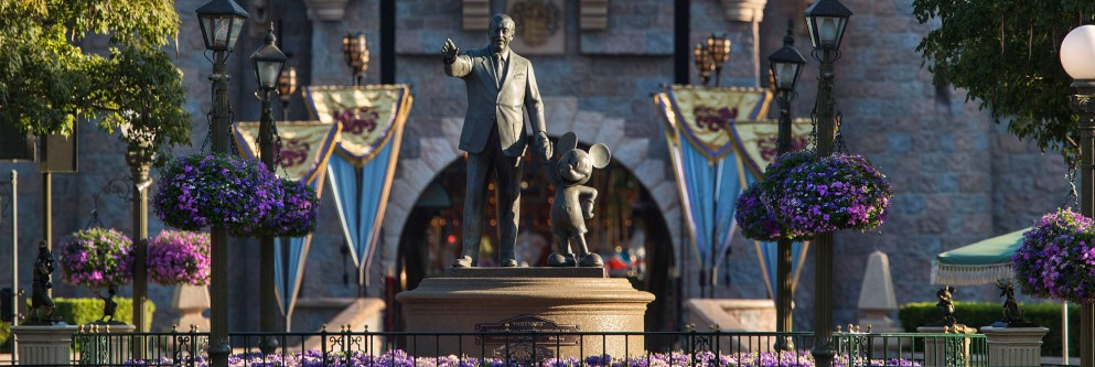 "Walt Disney ""Partners"" Statue at Disneyland Resort"