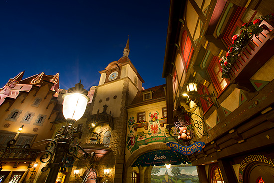 The Germany Pavilion Lights Up at Epcot