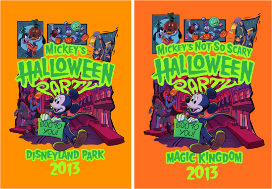 Commemorative Halloween T-shirts at Disney Parks