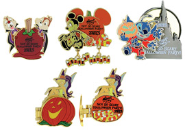 Halloween-themed Pins at Mickey's Not-So-Scary Halloween Party at Magic Kingdom Park