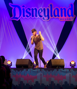 International Pop Star Olly Murs Thrills Fans with Special Performance at the Disneyland Resort