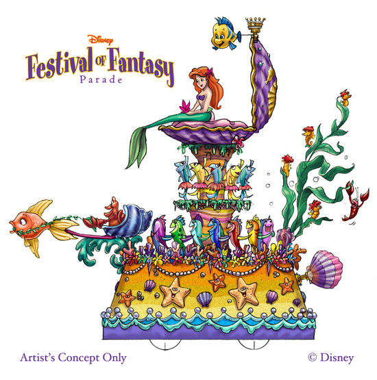 Ariel's 'Disney Festival of Fantasy Parade' Float