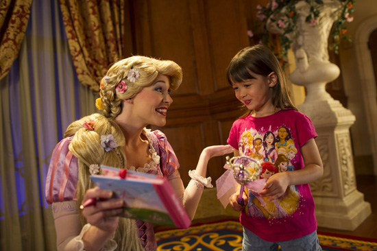 Meet Rapunzel at Princess Fairytale Hall in New Fantasyland at Magic Kingdom Park