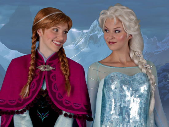 Anna and Else from 'Frozen'