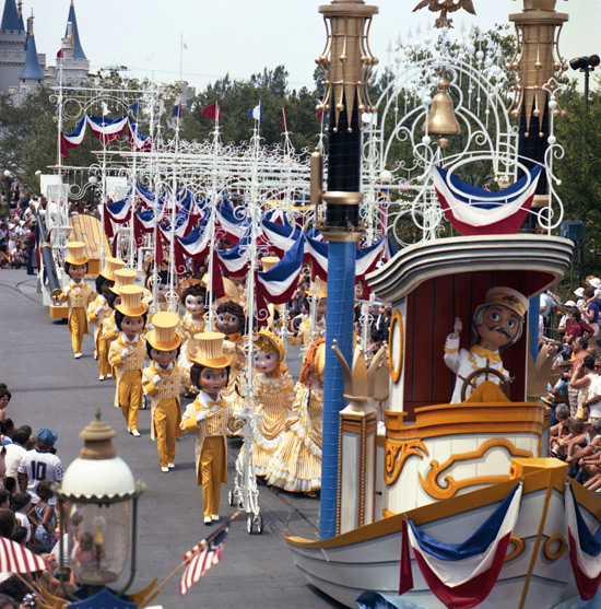 'America on Parade' at Magic Kingdom Park in 1975