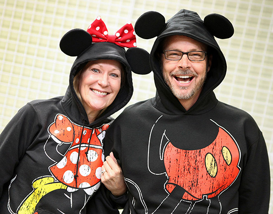Mickey and Minnie Hoodies
