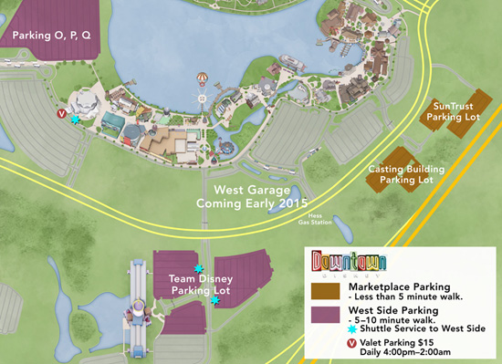 Valet Parking Arrives at Downtown Disney for the Holidays