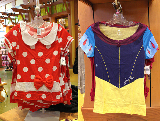 Adult-Sized T-Shirts Featuring Minnie Mouse And Snow White At Disney Parks