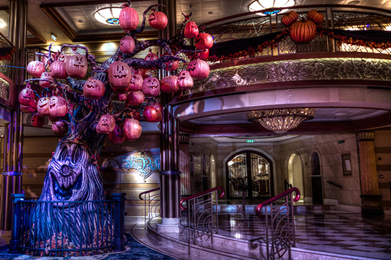 The Pumpkin Tree, aboard the Disney Dream for Halloween on the High Seas