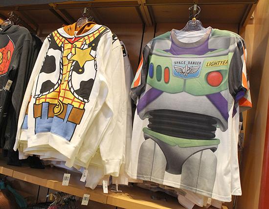 Sheriff Woody Zip-Up Sweatshirt and Buzz Lightyear T-Shirt At Disney Parks