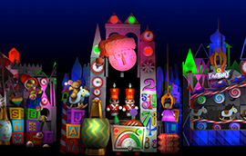 Toy Factory Projection at 'it's a small world' Holiday