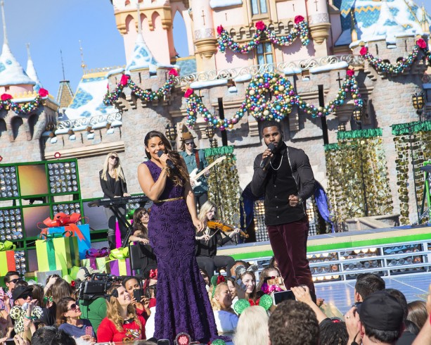Jordin Sparks and Jason Derulo at the Disneyland Resort for the 2013 Disney Parks Christmas Day Parade on ABC