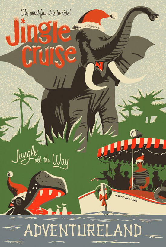 'Limited Time Magic': Grab a 'Jingle Cruise' Poster at Disneyland Park, Walt Disney World