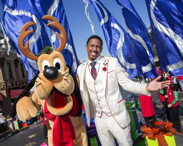 Nick Cannon at the Disneyland Resort for the 2013 Disney Parks Christmas Day Parade on ABC