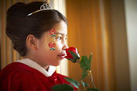 Face Painting for Guests at Cinderella-inspired Disney Bibbidi Bobbidi Boutique
