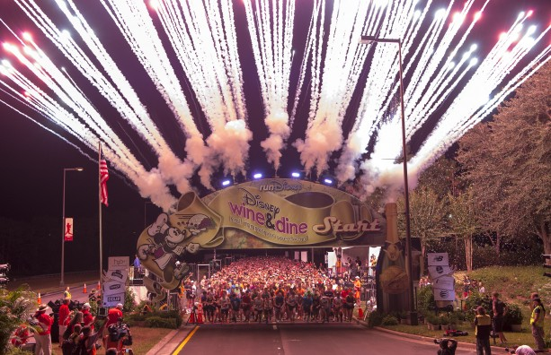 Disney Wine & Dine Half Marathon Start Line