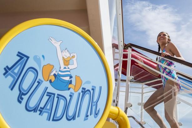 AquaDunk Water Slide Aboard the Disney Magic