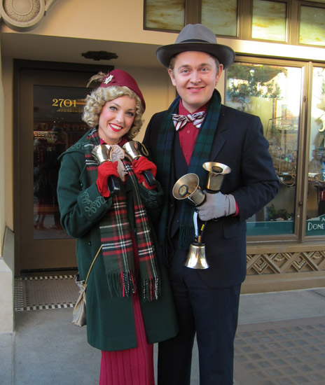 Buena Vista Street Community Bell Ringers at Disney California Adventure Park