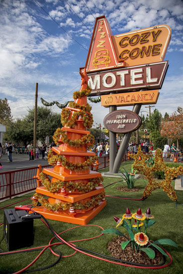 Sally's Tree in Cars Land at Disney California Adventure Park