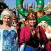 Elsa And Anna From Disney's Animated Feature Film 'Frozen' Make Their Parade Debut This Year
