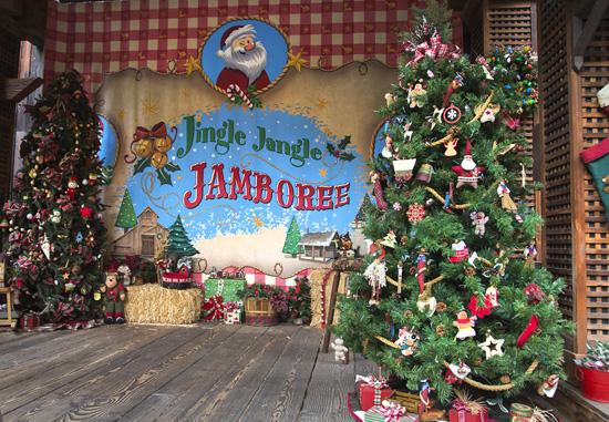 Christmas Trees at Jingle Jangle Jamboree at Disneyland Park