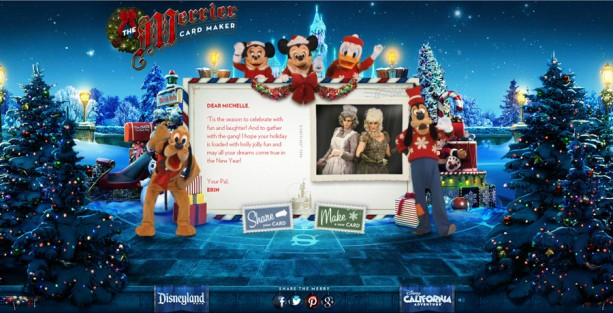 Merrier Card Maker Returns – Send a Holiday Greeting from Disneyland Resort