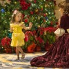 Belle Greeting An Aspiring Little Princess By The Sparkling Christmas Tree