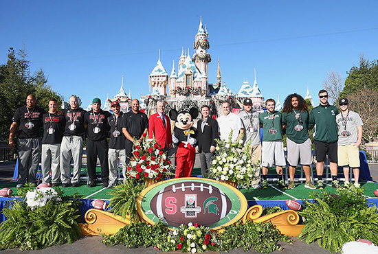 Michigan State Spartans and the Stanford Cardinal at Disneyland Resort Rose Bowl Team Ceremony