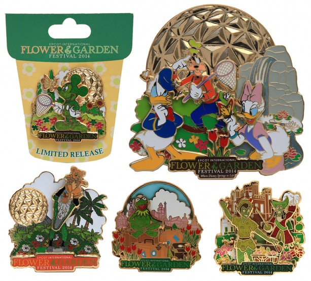 New Merchandise to Bloom at the 2014 Epcot International Flower & Garden Festival, Featuring Pins