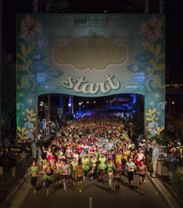 2014 Tinker Bell Half Marathon Start Line at the Disneyland Resort