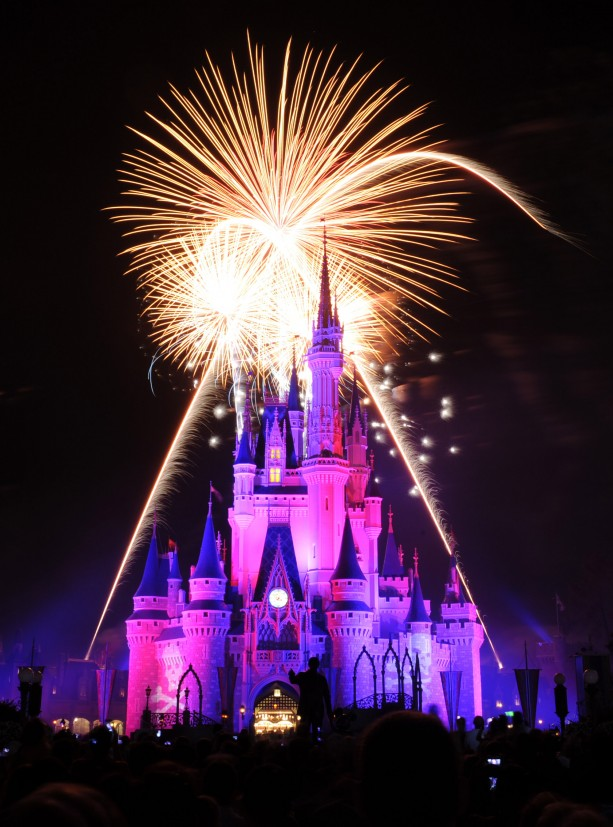 Fireworks Above Cinderella Castle at Walt Disney World Resort