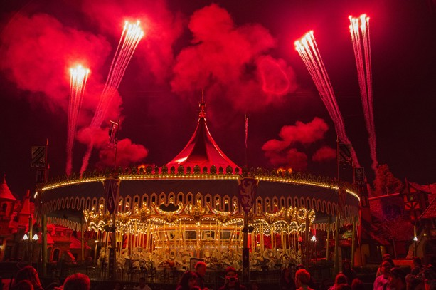 Disney Parks After Dark: Fireworks in Fantasyland From King Arthur Carrousel at Disneyland Park