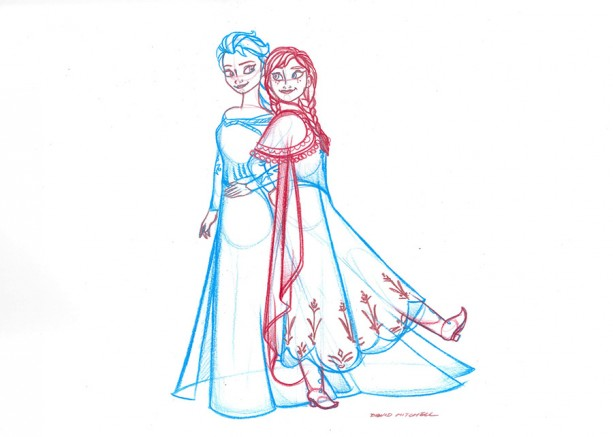 'Frozen'-Inspired Artwork by Sketch Artists at the Disneyland Resort