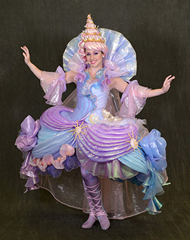 'Seashell Girl' from 'The Little Mermaid' Unit in 'Disney's Festival of Fantasy Parade'