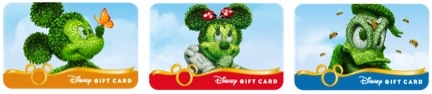 New Mini Disney Gift Card Designs for Epcot International Flower & Garden Festival