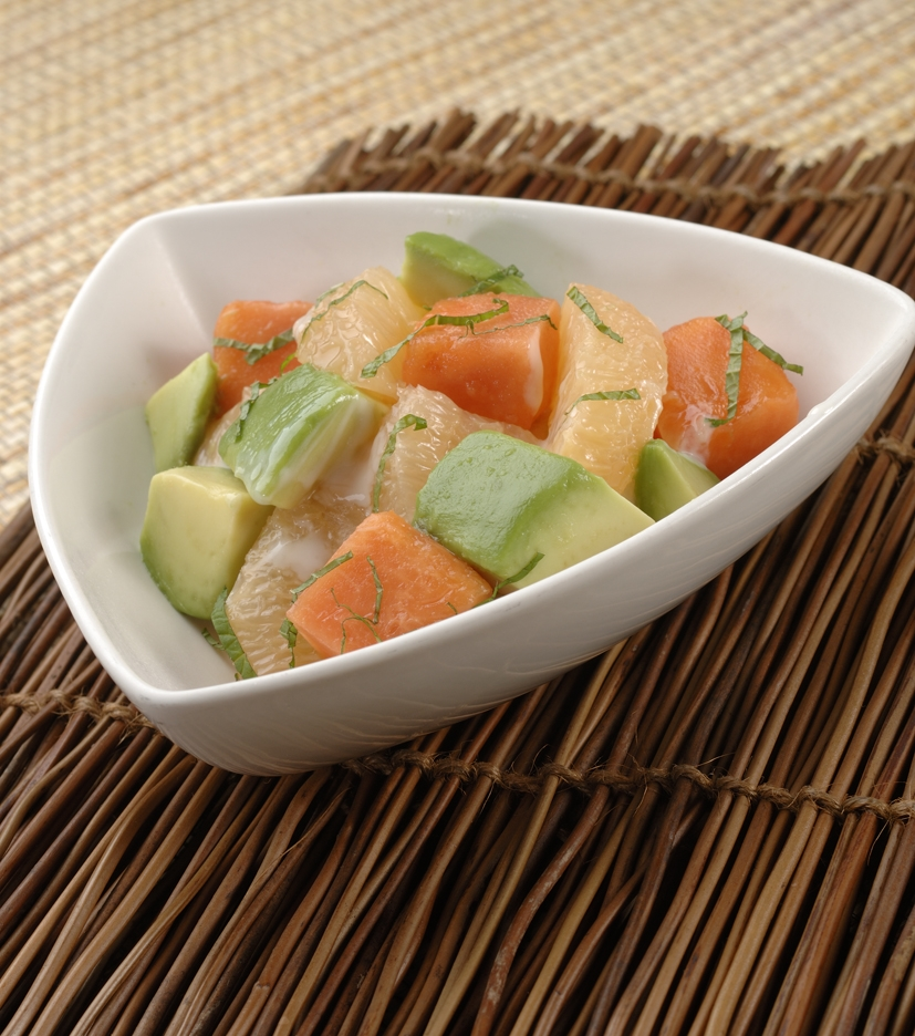Papaya, Avocado and Grapefruit Salad
